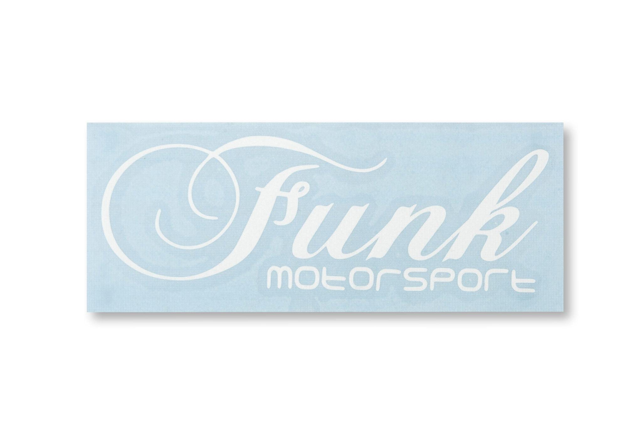 Funk Motorsport White Decal